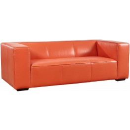 Hayden Tangerine Top Grain Leather Sofa