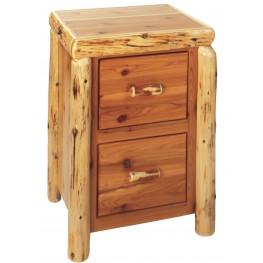 Cedar 2 Drawer File Cabinet
