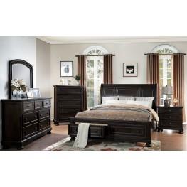 Begonia Gray Storage Platform Bedroom Set