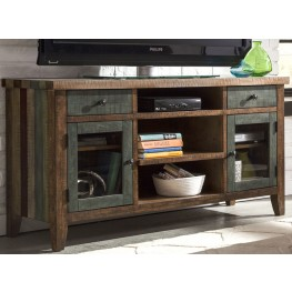 "Boho Loft Rust With Rustic Brown 60"" Tv Console"