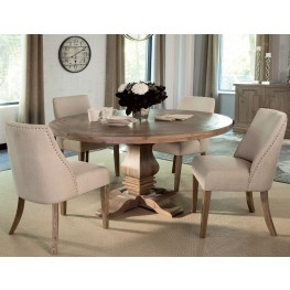 Florence Warm Natural Round Dining Room Set by Donny Osmond