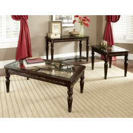 Russian Hill Warm Cherry Occasional Table Set