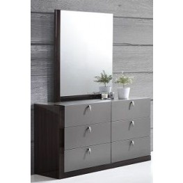 Sorrento Gold Dresser and Mirror