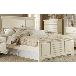 Laurinda Antique White Queen Panel Bed