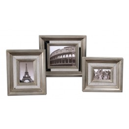 Hasana Antique Silver Photo Frame Set of 3