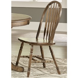 Carolina Crossing Antique Honey Windsor Side Chair Set of 2