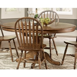 Carolina Crossing Antique Honey Oval Extendable Pedestal Dining Table