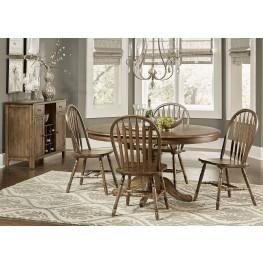 Carolina Crossing Antique Honey Oval Pedestal Extendable Dining Room Set