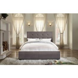 Cadmus Dark Grey Fabric Full Bed