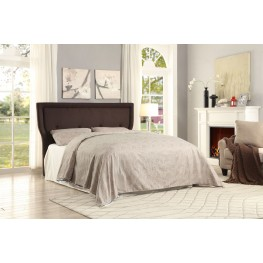 Thain Grey Fabric Full Platform Bed
