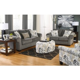 Makonnen Charcoal Living Room Set