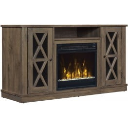 ClassicFlame Spanish Gray Bayport TV Stand with Fireplace