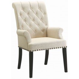 Parkins Cream Upholstered Arm Chair