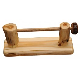 Cedar Wall-Mounted Toilet Paper Holder with Rod