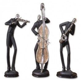Musicians Decorative Figurines, Set of 3