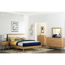 Anika Brown Upholstered Platform Bedroom Set