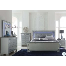 Bon Allura Silver Panel Bedroom Set