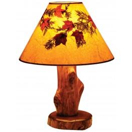 Vintage Cedar Large Shade Table Lamp
