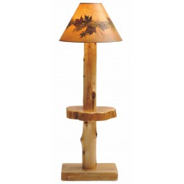 Cedar Shelf Floor Lamp Without Shade