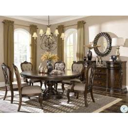 bonaventure park cherry extendable dining room set - Extending Dining Table And Chairs