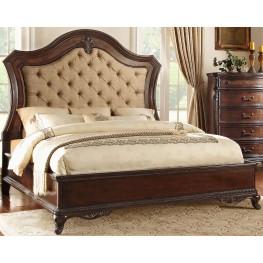Bonaventure Park Brown Queen Upholstered Panel Bed