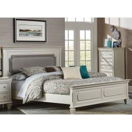 Odette Gold Cal. King Upholstered Panel Bed