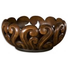 Merida Wood Tone Decorative Bowl