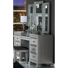 Bevelle Silver Vanity With Mirror