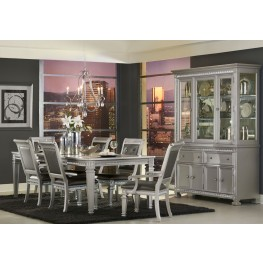 Bevelle Silver Extendable Dining Room Set