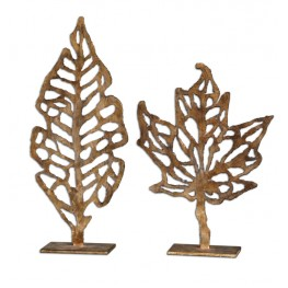 Hazuki Metal Sculpture, Set of 2