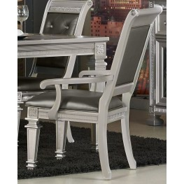 Bevelle Silver Arm Chair Set of 2