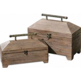 Tadao Natural Wood Boxes, Set of 2