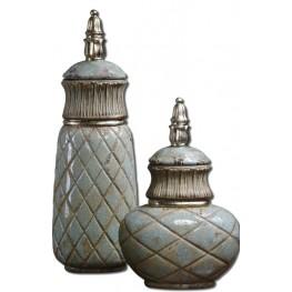Deniz Sea Foam Ceramic Containers Set of 2