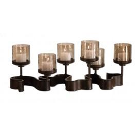 Ribbon Metal Candleholders