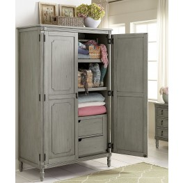 Aviana Grey Armoire