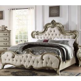 Elsmere Antique Grey Queen Upholstered Bed
