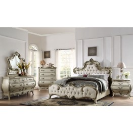 Elsmere Antique Grey Upholstered Bedroom Set