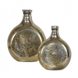 Euryl Mercury Glass Vases Set of 2