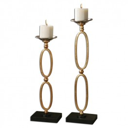 Lauria Chain Link Candleholders Set of 2