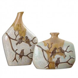 Pajaro Ceramic Vases Set of 2