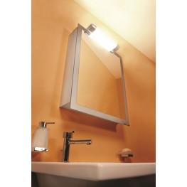 "Axara 19"" Hinge Left White Mirror Cabinet"