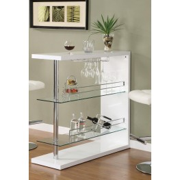 White Bar Table 100167