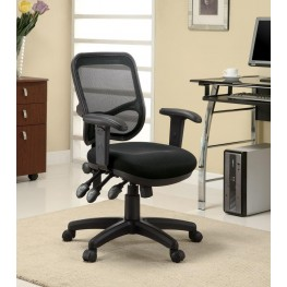 Home Office Chair with Black Mesh Back- Coaster Furniture