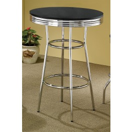 Soda Fountain Table With Black Top