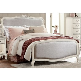 Kensington Antique White Katherine Upholstered Full Panel Bed