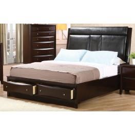 Phoenix Queen Upholstered Storage Bed