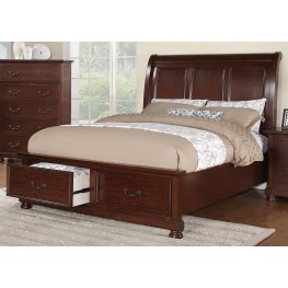 Hannah Cal. King Sleigh Storage Bed
