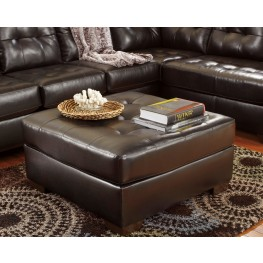 Alliston DuraBlend Chocolate Oversized Accent Ottoman