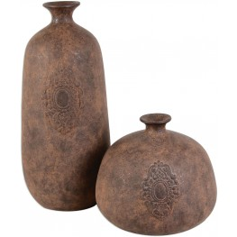 Frederico Rustic Vases Set of 2