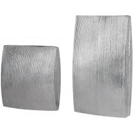 Darla Gray Aluminum Vases Set of 2